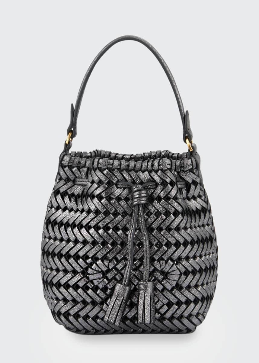 Anya Hindmarch The Neeson Micro Crinkle Drawstring Bucket Bag