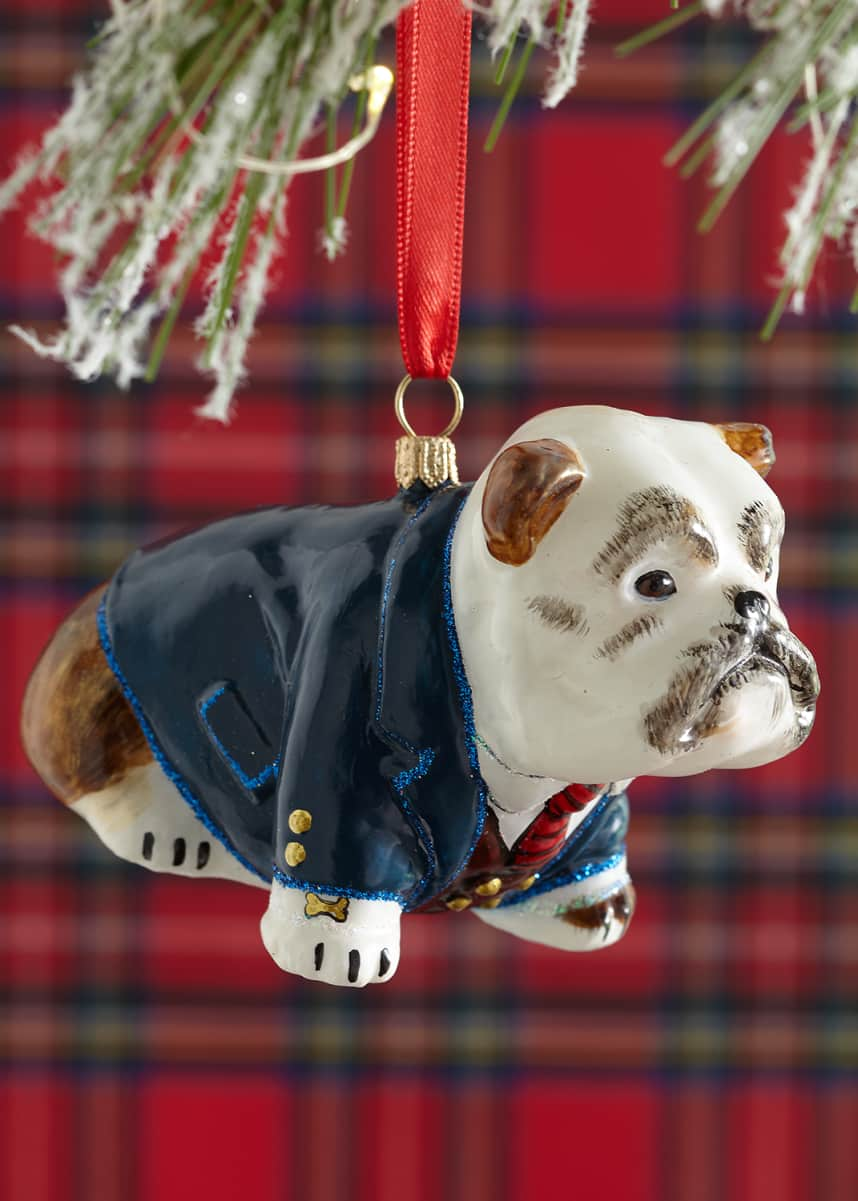 Joy To The World Collectibles Bulldog Christmas Ornament