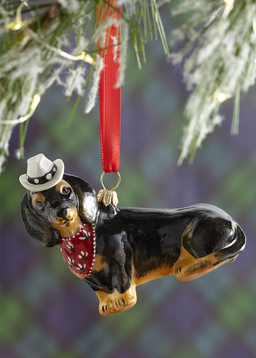 Joy To The World Collectibles Dachshund Dog Christmas Ornament