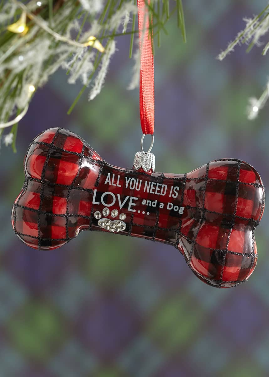 Joy To The World Collectibles All You Need Is Love & A Dog Christmas Ornament