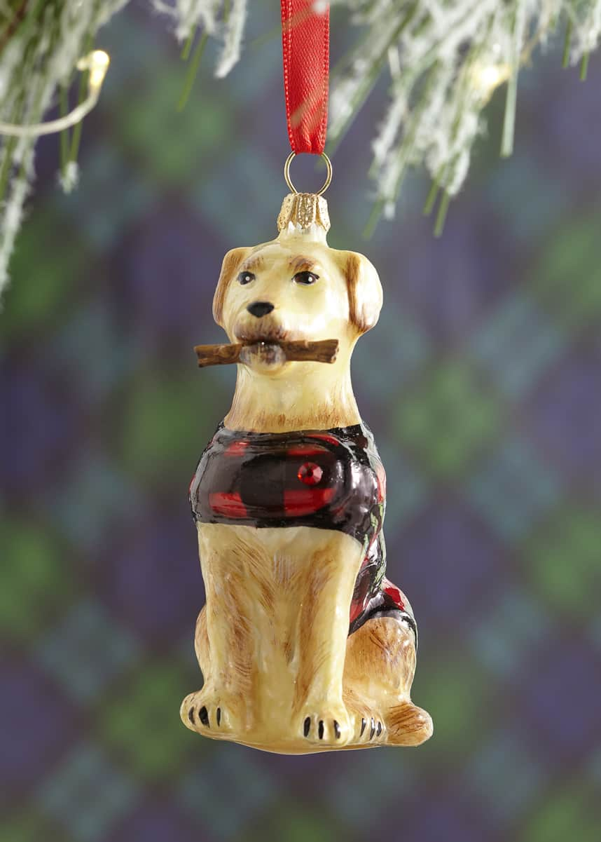 Joy To The World Collectibles Yellow Lab Christmas Ornament