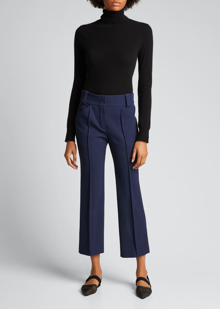 Fendi Cropped Wool Gabardine Pants
