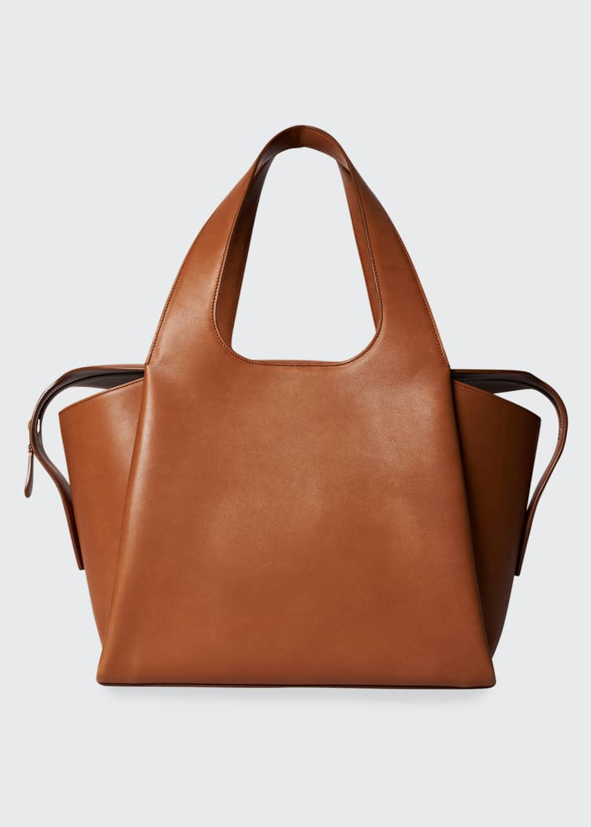 THE ROW Large TR1 Bag in Calfskin Leather