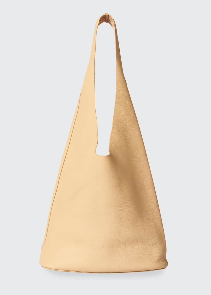 THE ROW Leather Hobo Bucket Bag