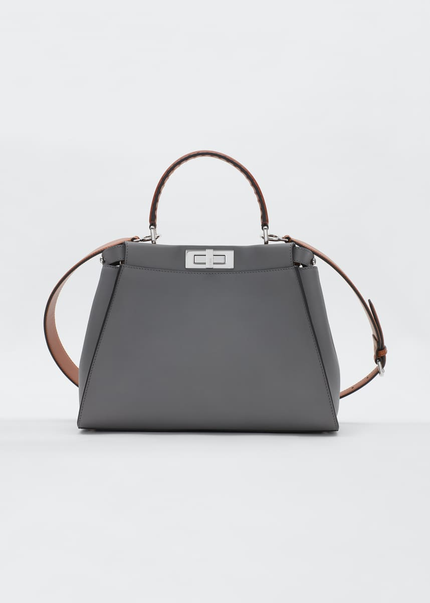 Fendi Peekaboo King Calf Satchel Bag