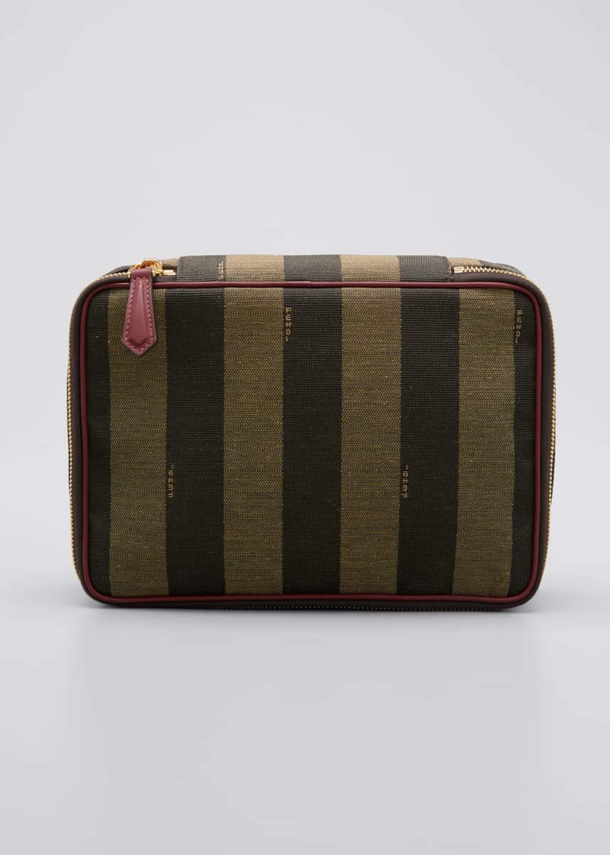 Fendi Medium Sequin Stripe Cosmetic Bag