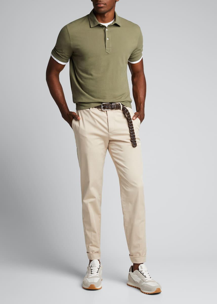 Brunello Cucinelli Men's Basic Piqué Polo Shirt