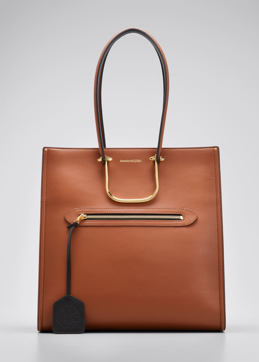 Alexander McQueen The Tall Story Bag in Calf Leather