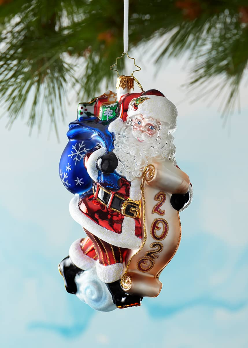 Christopher Radko 2020 Santa Saves The Date Christmas Ornament