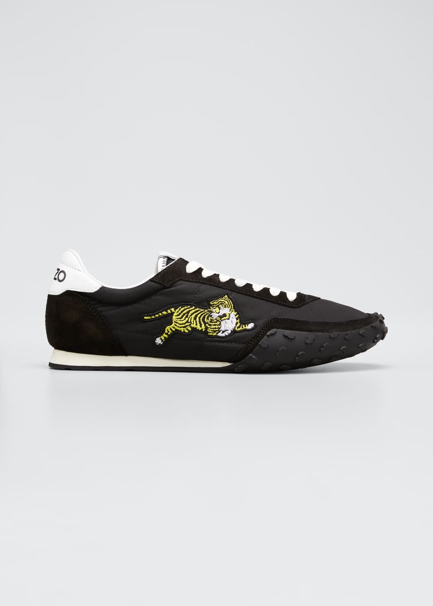Kenzo Men's Move Suede & Nylon Low-Top Sneakers