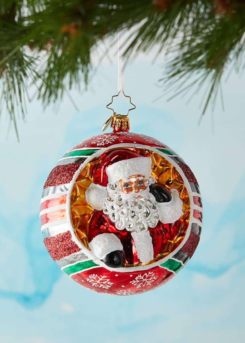 Christopher Radko Spherical Cheer Christmas Ornament