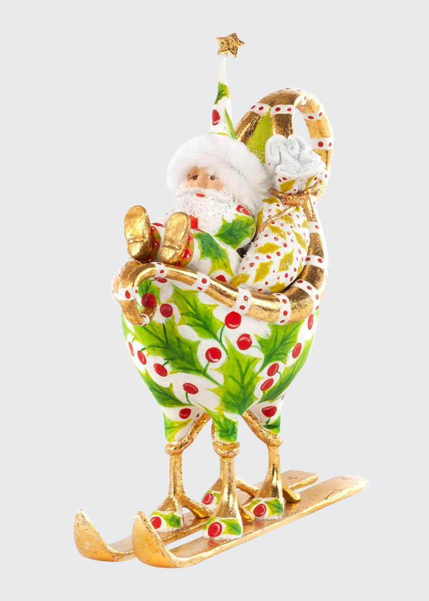 Patience Brewster Dash Away Santa in Sleigh Ornament