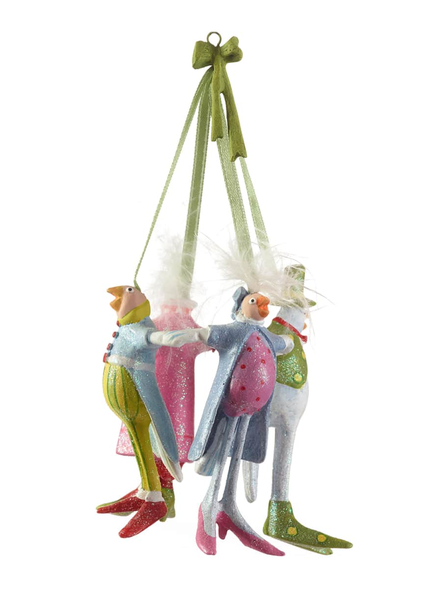 Patience Brewster 4 Calling Birds Ornament