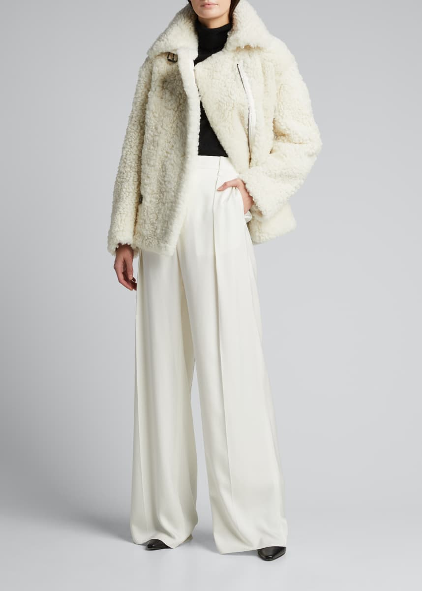 TOM FORD Shearling Zip-Front Jacket