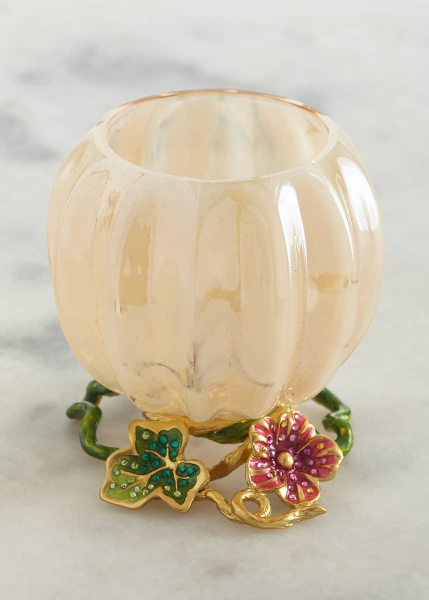Jay Strongwater Leaf and Vine Candle Holder
