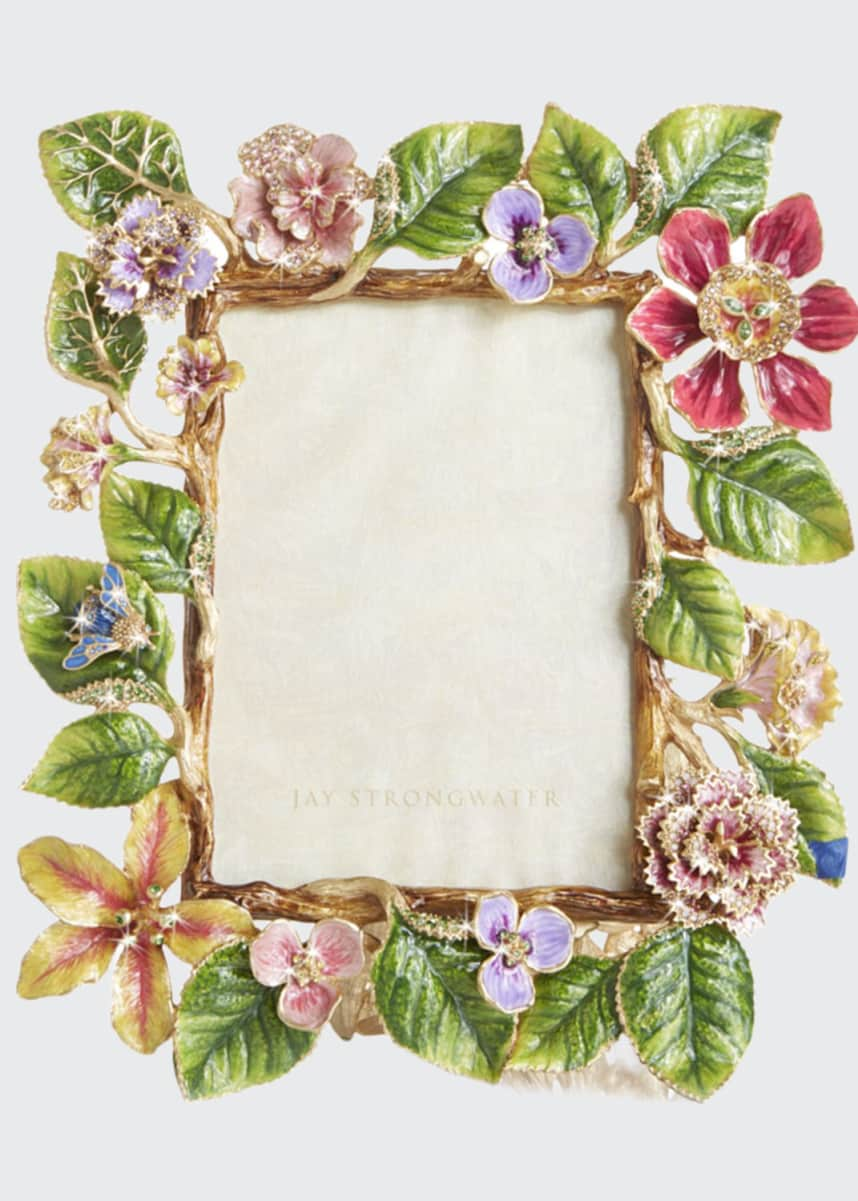 "Jay Strongwater Dutch Floral Frame, 5"" x 7"""