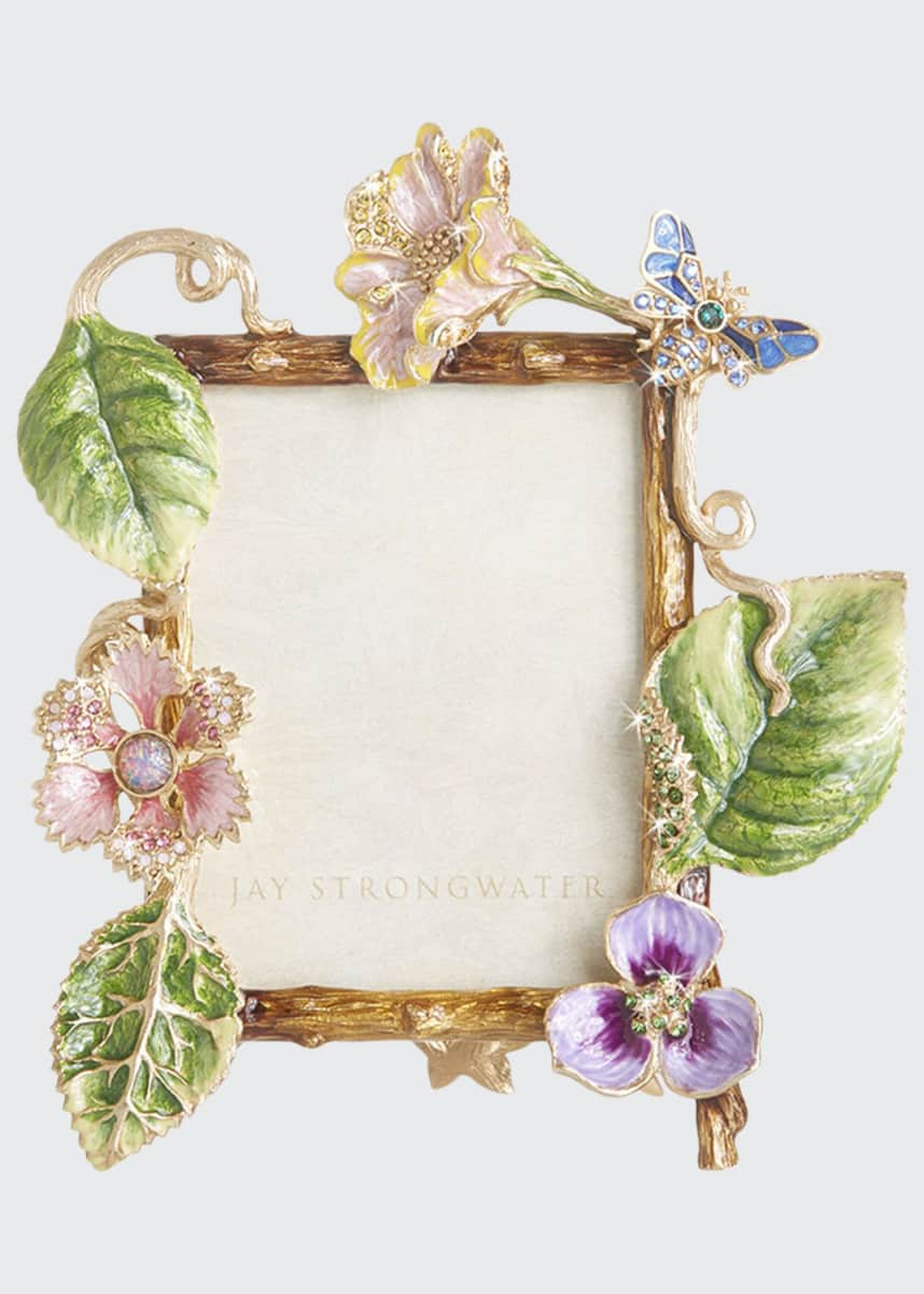 "Jay Strongwater Dutch Floral Frame, 3"" x 4"""