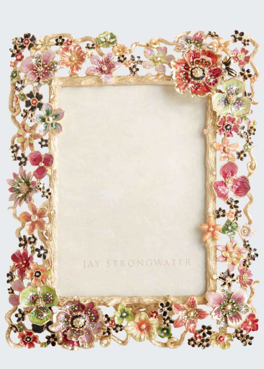 "Jay Strongwater Cluster Floral Frame, 5"" x 7"""