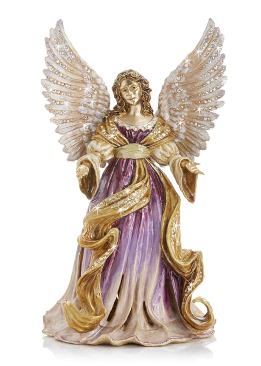 Jay Strongwater Renaissance Angel Musical Figurine