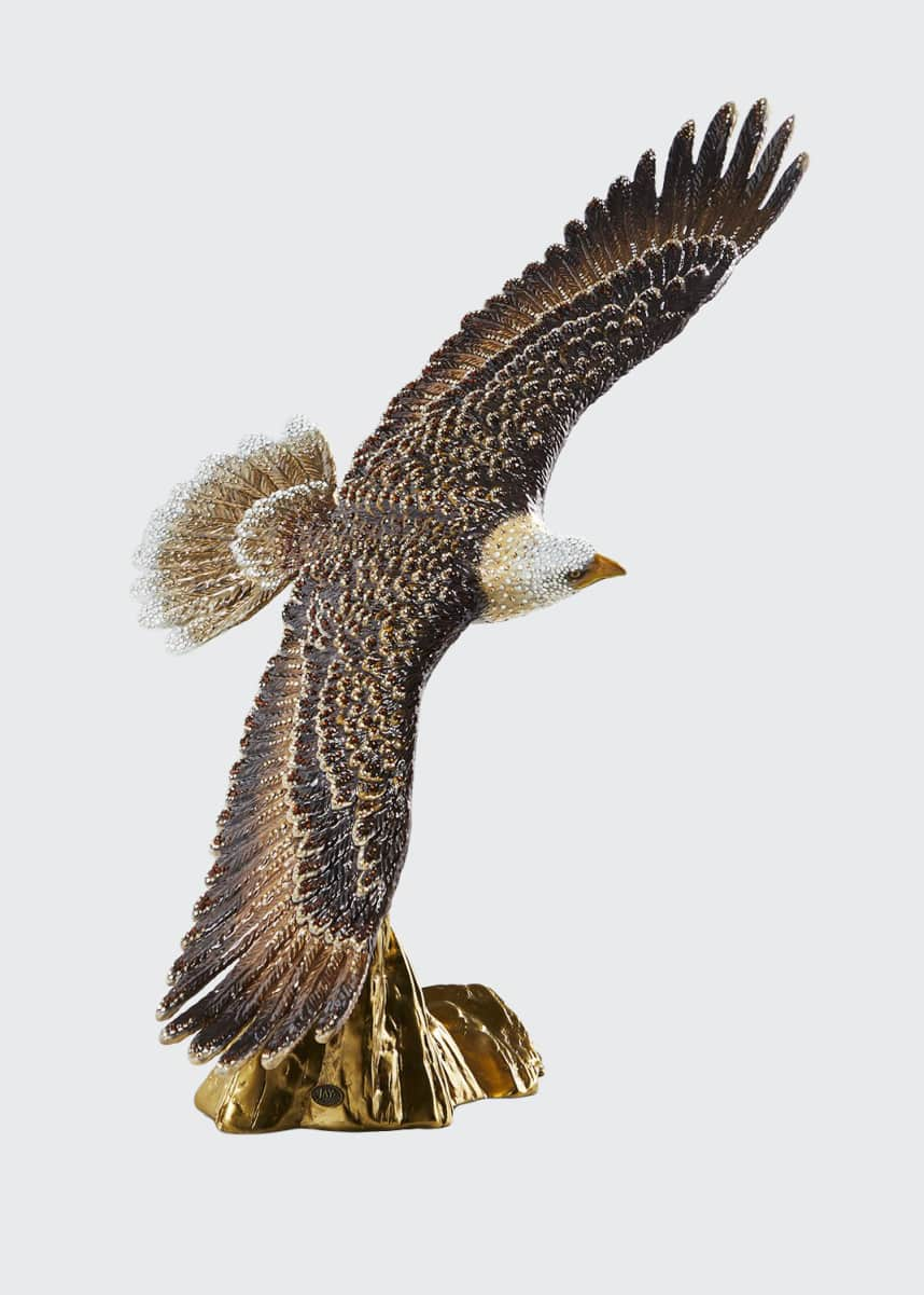Jay Strongwater Soaring Eagle Figurine