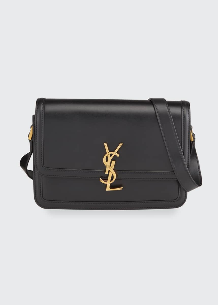 Saint Laurent Cass Medium YSL Lock Shoulder Bag