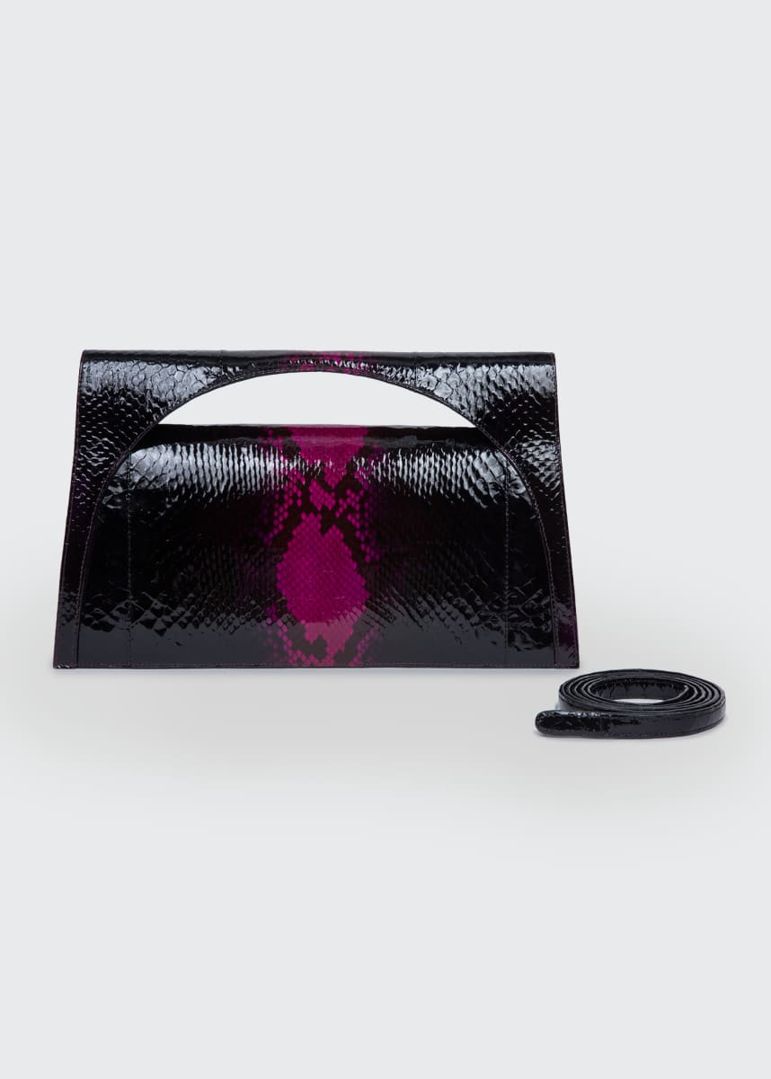 Nancy Gonzalez Sammy Small Keyhole Python Clutch Bag