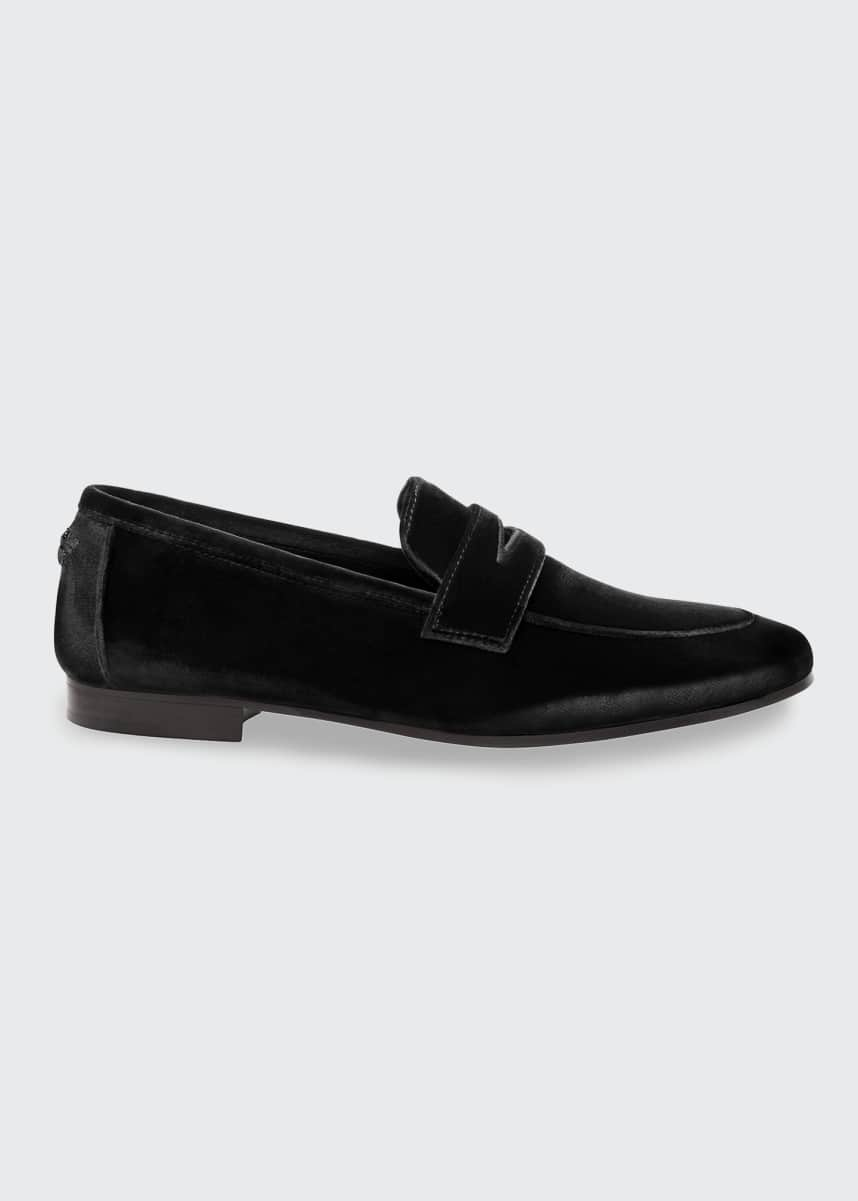 Bougeotte Velvet Flat Penny Loafers