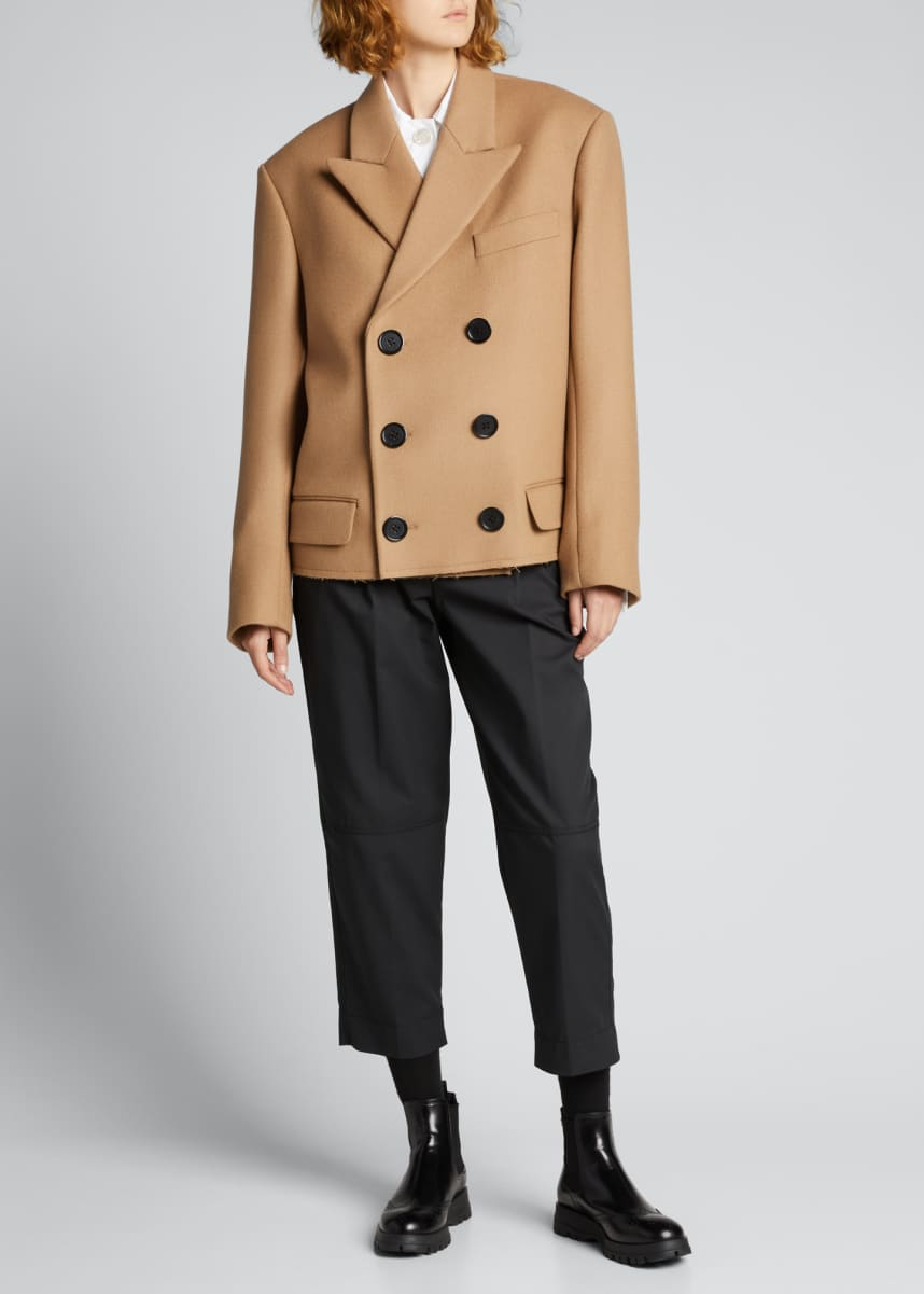 MERYLL ROGGE Double-Breasted Wool Coat