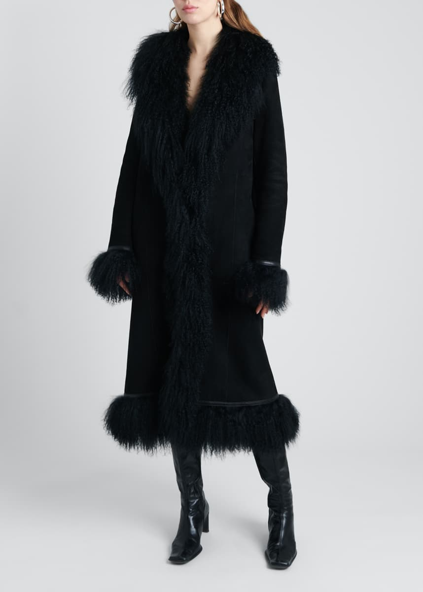 Saks Potts Bonnie Lamb Shearling Long Coat
