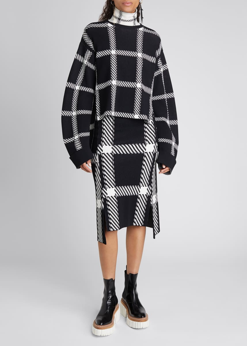 Stella McCartney Clean Lumberjack Buffalo Check Skirt
