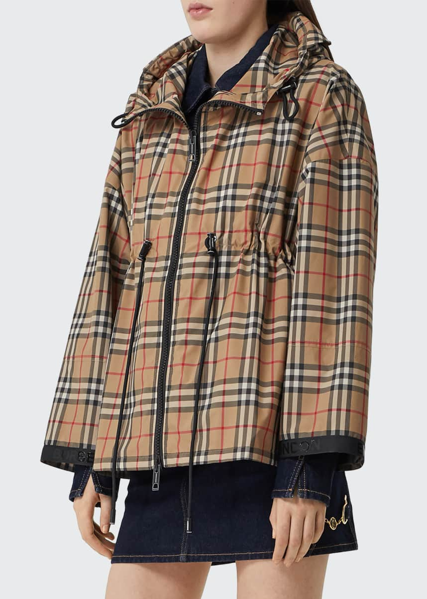 Burberry Bacton Check Hooded Jacket