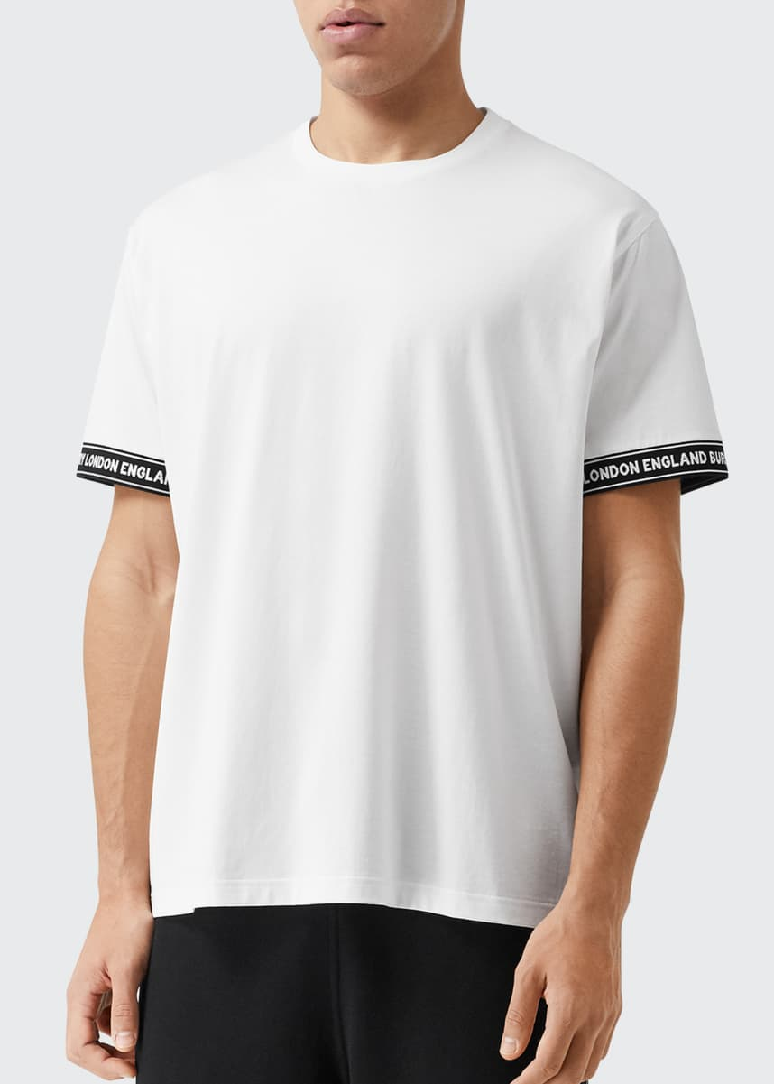 Burberry Men's Teslow Logo Taping Tee