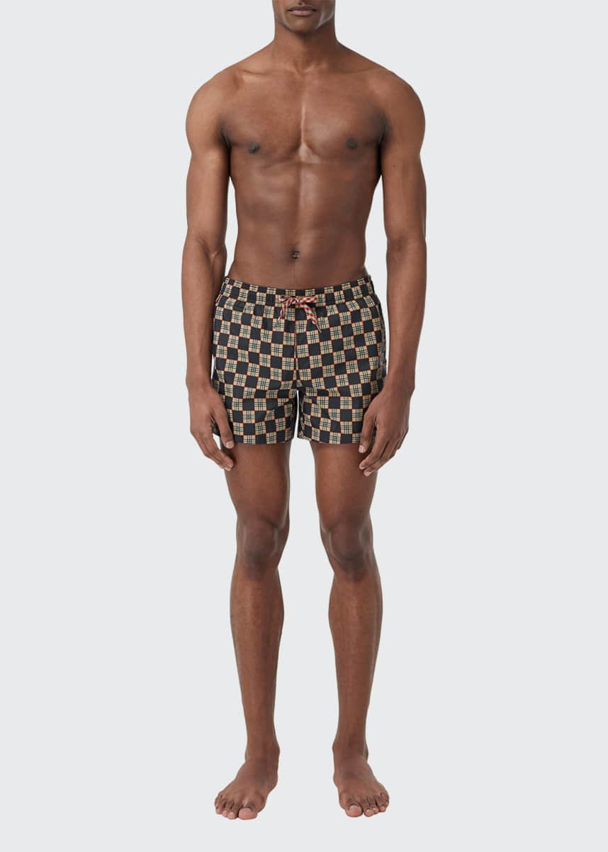 Burberry Men's Greenford Vintage Checkered Swim Shorts