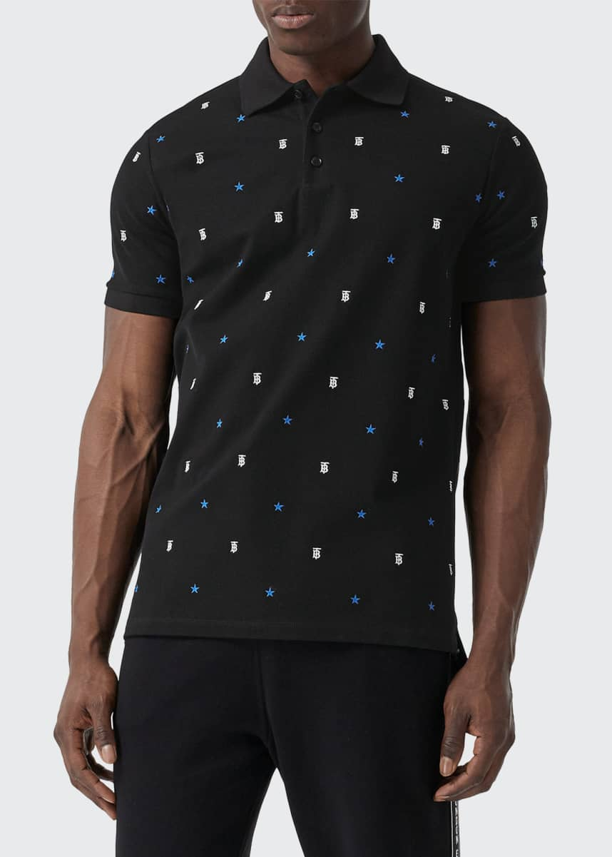 Burberry Men's Elsford TB Star-Embroidered Polo Shirt