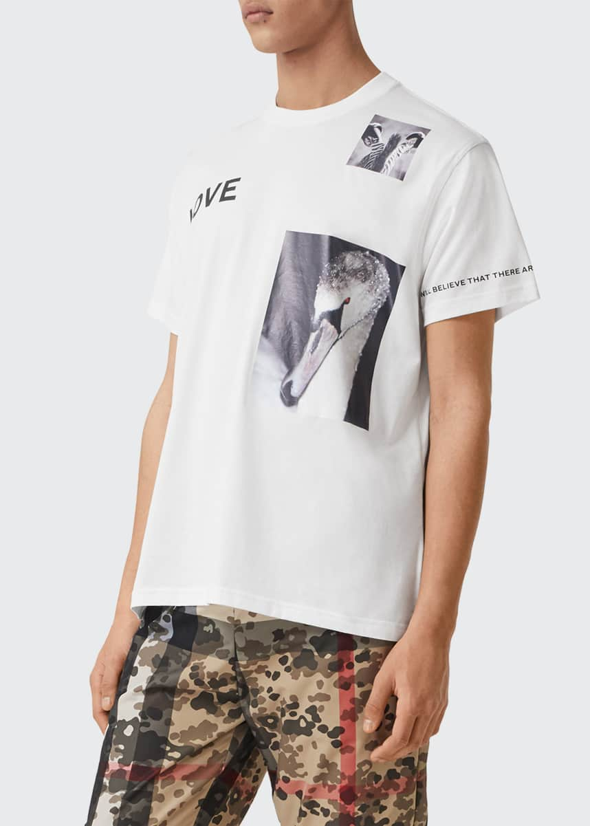 Burberry Men's Love Photo-Print T-Shirt