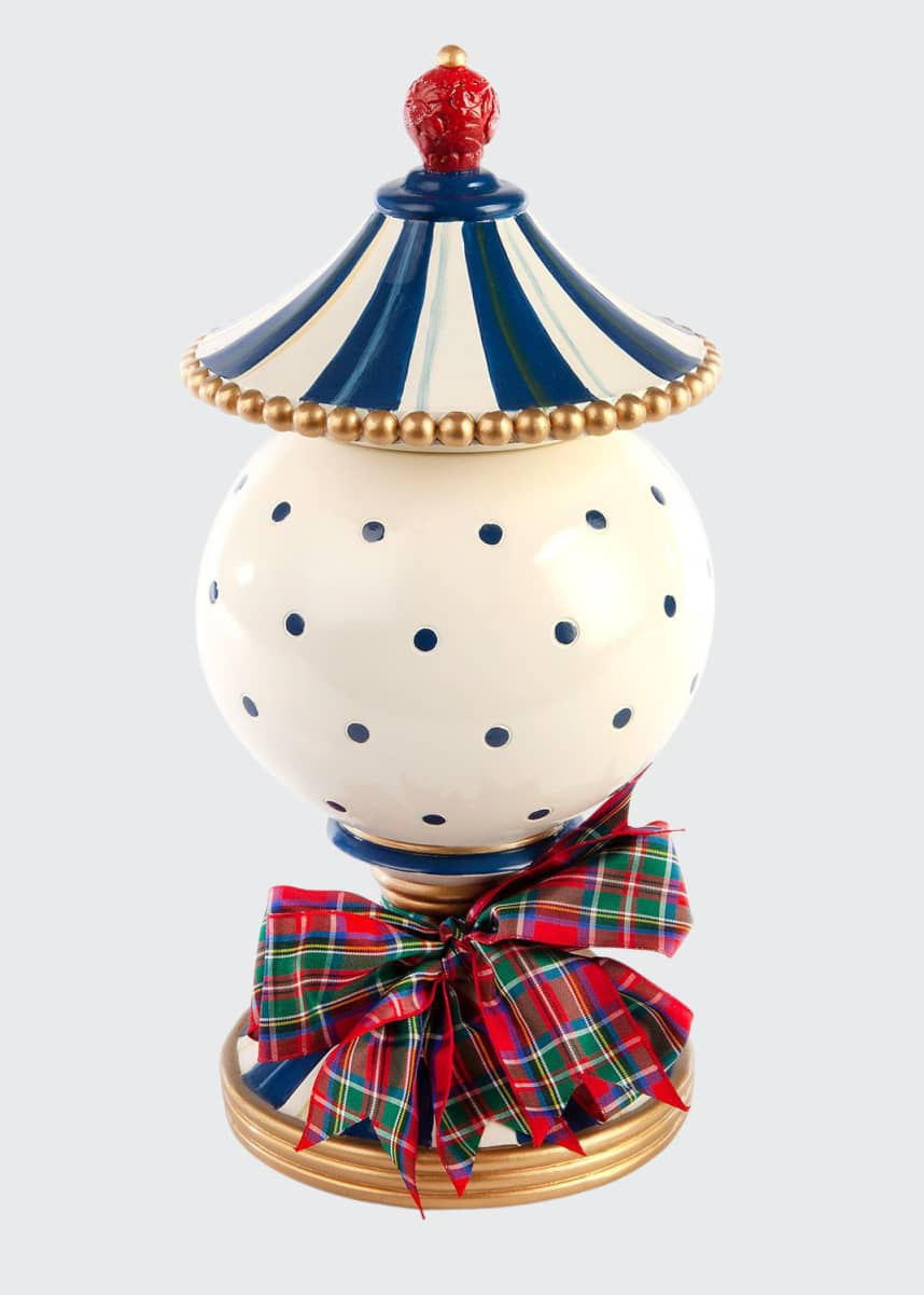 MacKenzie-Childs Royal Check Lidded Urn - Small