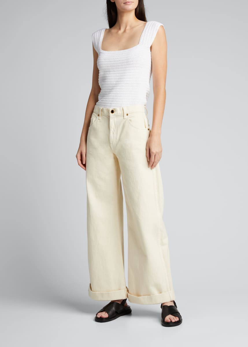 Rachel Comey Pyro Crochet Back-Tie Top
