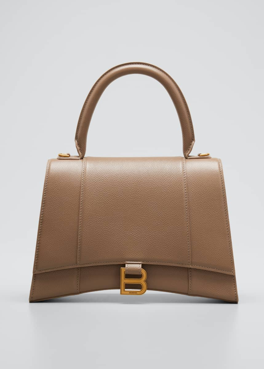 Balenciaga Hourglass Leather Top-Handle Bag