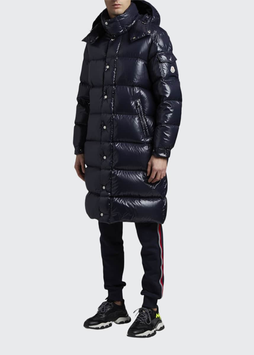 Moncler Men's Hanoverian Long Laque Puffer Coat