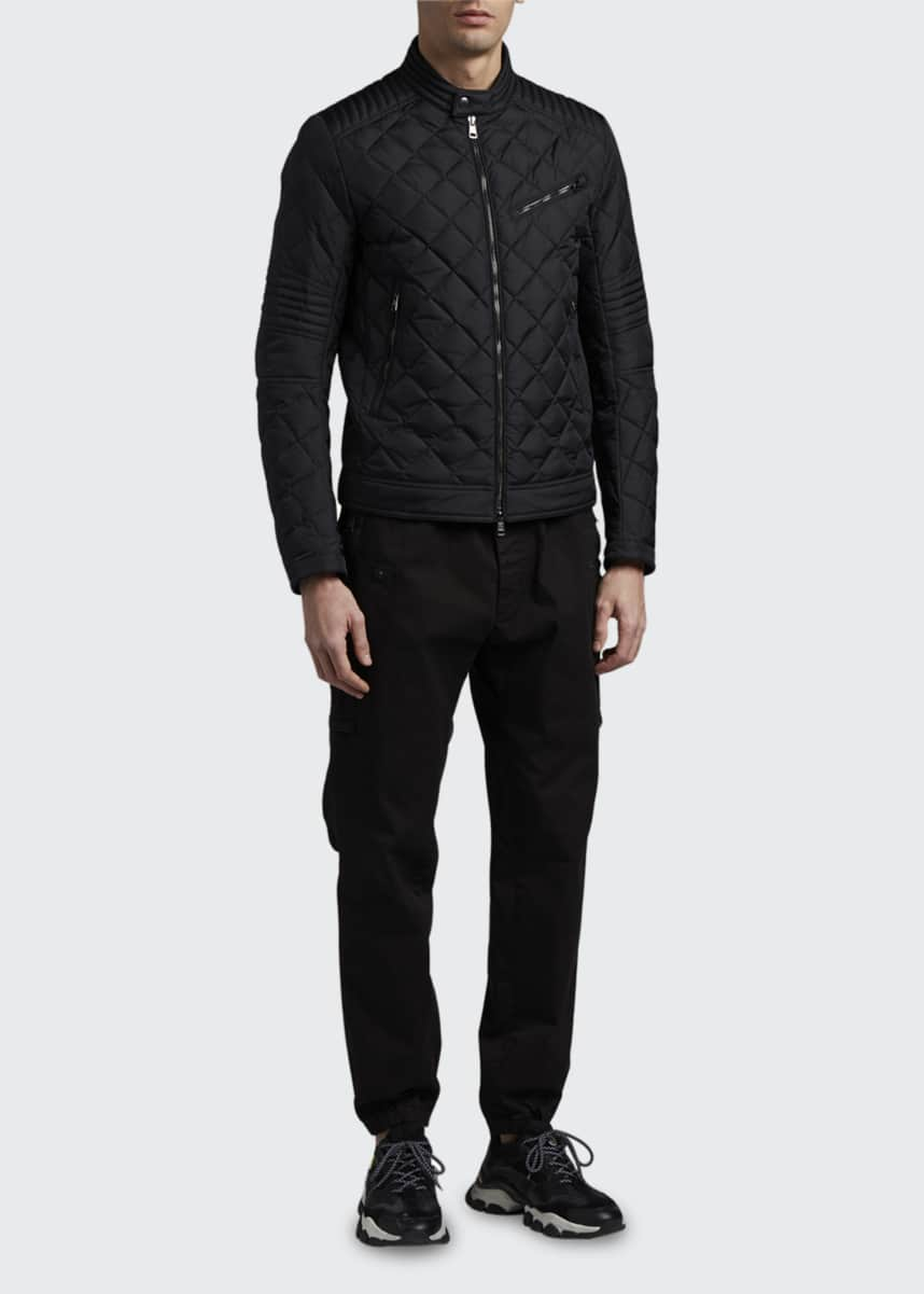 Moncler Men's Breitman Quilted Moto Jacket