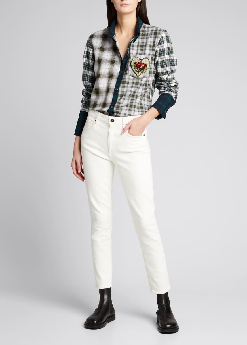 Libertine Plaid Embroidered Patch Classic Shirt