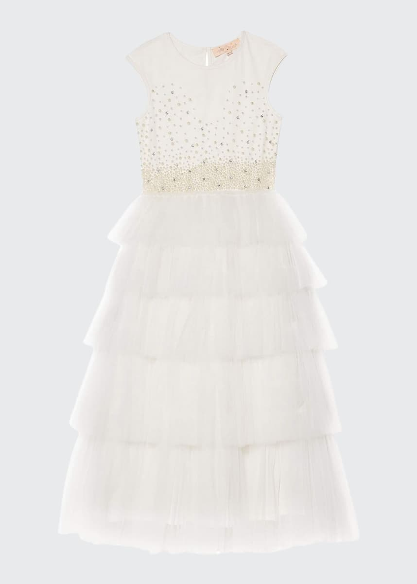 Tutu Du Monde Girl's Pearled Dreams Long Tulle Dress, Size 2-11