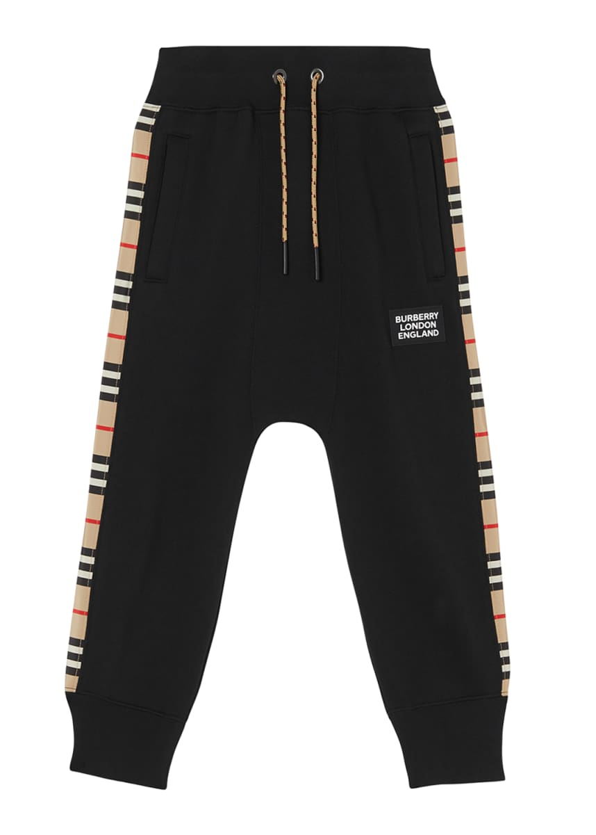 Burberry Boy's Hamilton Icon Stripe Panel Joggers, Size 3-14