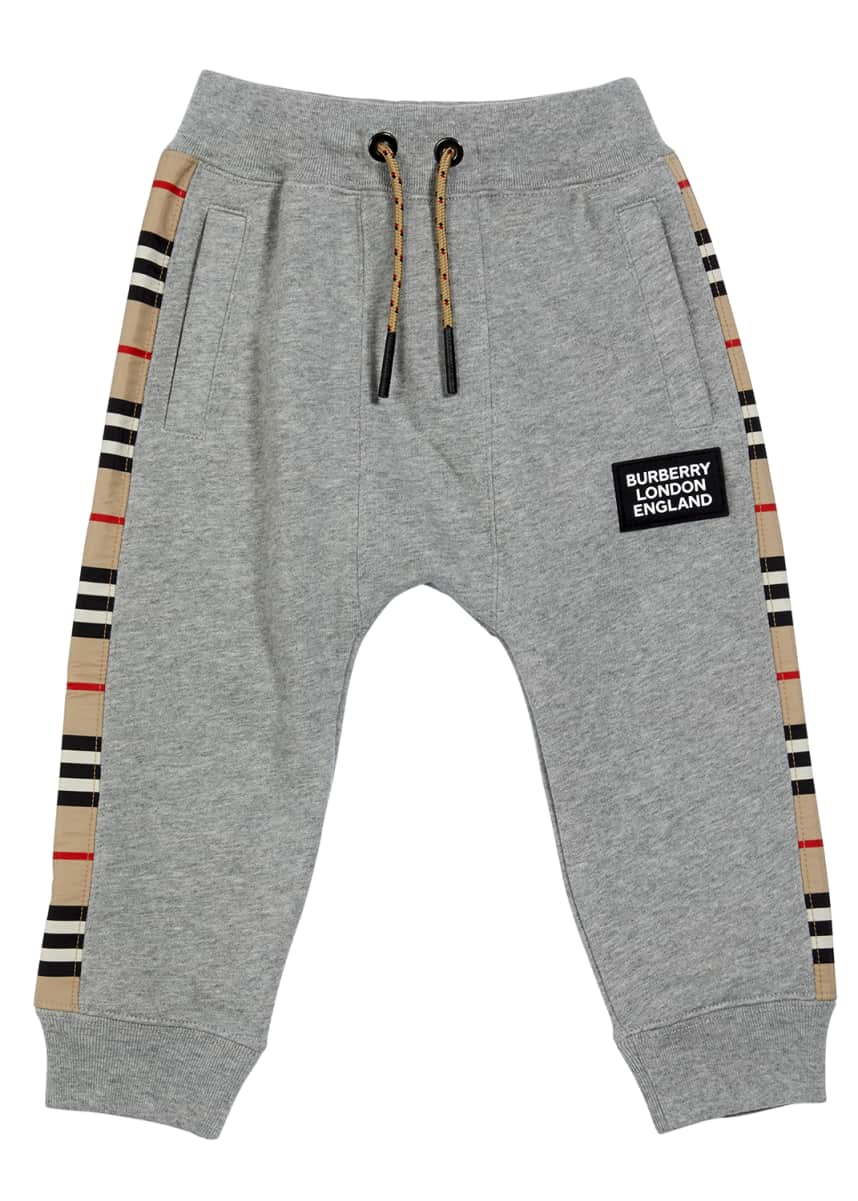 Burberry Boy's Icon Stripe Panel Joggers, Size 6M-2
