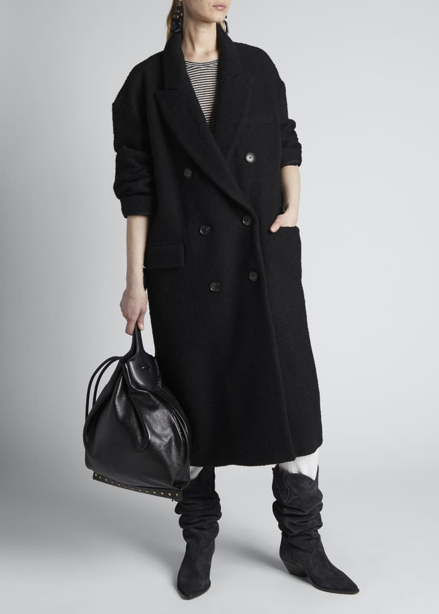 Etoile Isabel Marant Ojima Double-Breasted Wool-Blend Coat