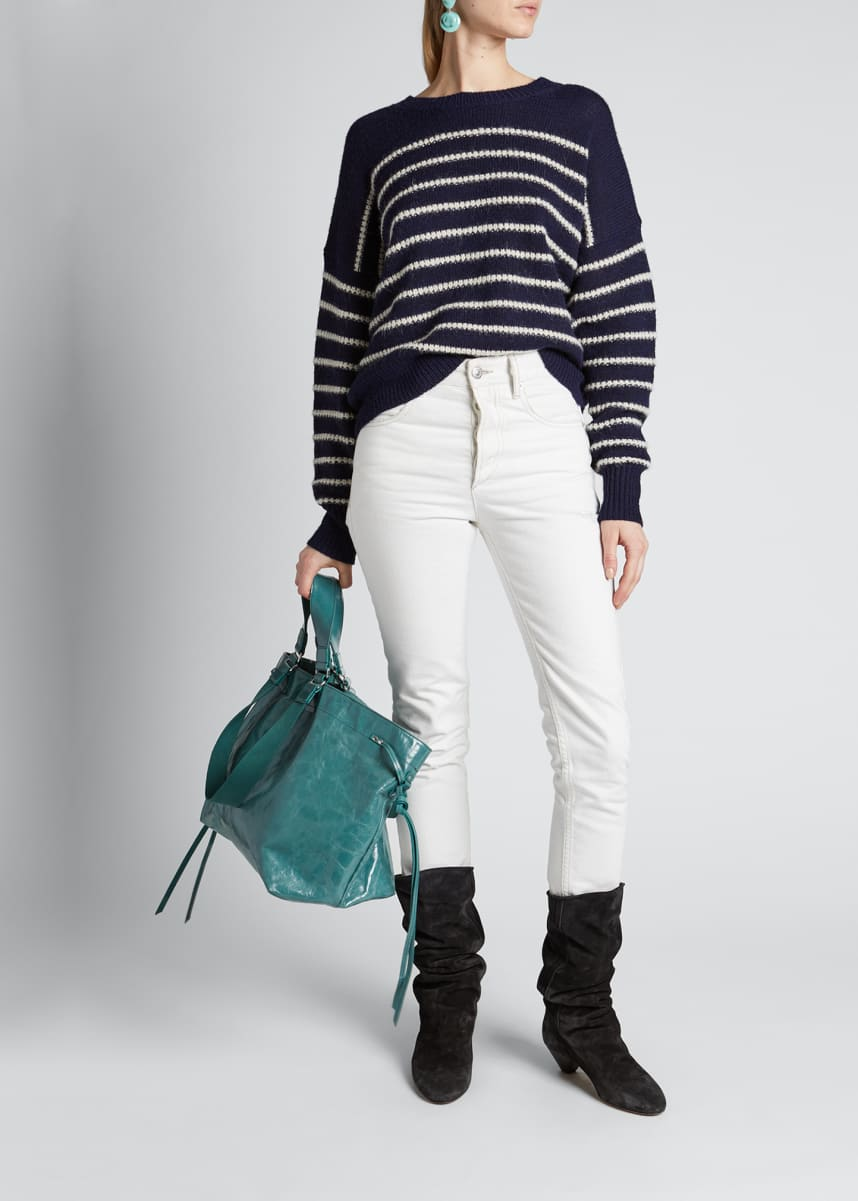 Etoile Isabel Marant Gatlin Striped Crewneck Sweater