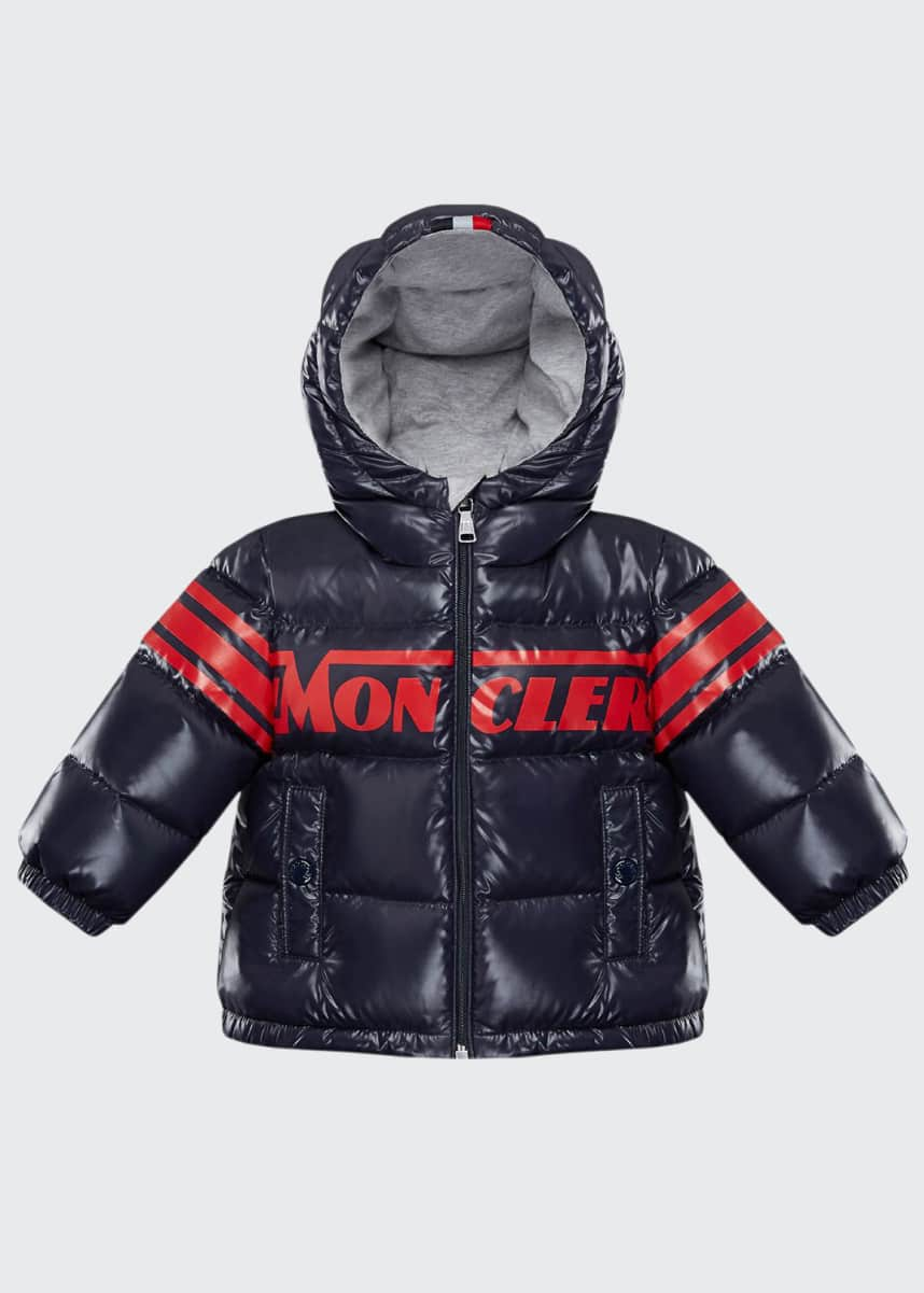Moncler Nasse Quilted Puffer Hooded Jacket, Size 12M-3