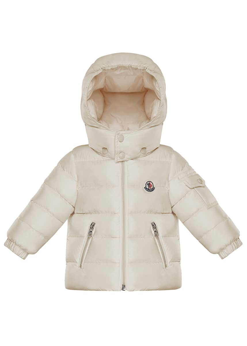 Moncler Jules Quilted Hooded Jacket, Size 12M-3