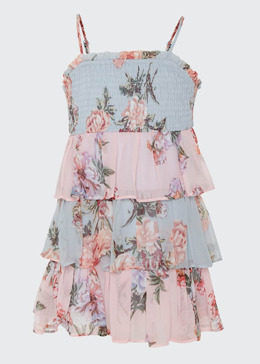 Bardot Junior Minka Floral-Print Tiered Dress, Size 8-14