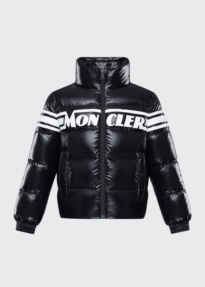 Moncler Saise Quilted Puffer Jacket, Size 4-6